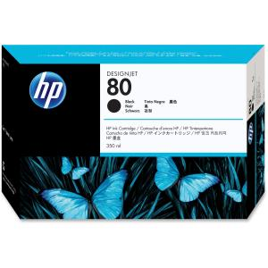 HP 80 Black Ink Cartridge - Black - Inkjet - 440 Page - 1 Each - Retail