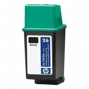 HP 26 Black Ink Cartridge - Black - Inkjet - 790 Page - 1 Each - Retail