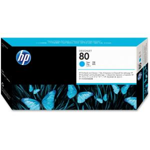 HP 80 Cyan Printhead/Cleaner - Cyan - Inkjet - 1 Pack - Retail