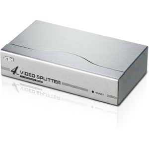 Aten 4 port Video Splitter - 1 x Computer, 4 x Monitor - 1920 x 1440 @ 60Hz - SVGA, XGA