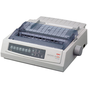 Oki MICROLINE 320 Turbo/D Dot Matrix Printer - 9-pin - 435 cps Mono - 240 x 216 dpi - Parallel, Serial