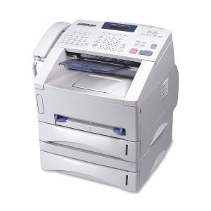 Brother IntelliFAX 5750e Laser Multifunction Printer - Monochrome - Plain Paper Print - Desktop - Fax, Copier, Printer, Scanner - 15 ppm Mono Print - 600 x 600 dpi Print - 15 cpm Mono Copy LCD - 500 sheets Input - Fast Ethernet - USB