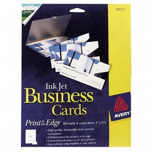 "Avery Business Card - 2"" x 3.50"" - Glossy - 200 / Box - White"