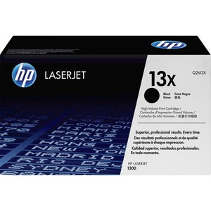 HP 13X Black Toner Cartridge - Black - Laser - 4000 Page - 1 Each
