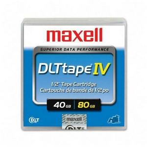 Maxell DLTtape IV DLT Data Cartridge - DLT - 40 GB (Native) / 80 GB (Compressed) DLT 8000, 35 GB (Native) / 70 GB (Compressed) DLT 7000, 20 GB (Native) / 40 GB (Compressed) DLT 4000 - 1 Pack