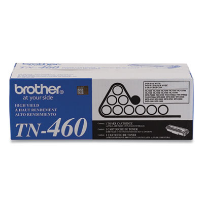 Brother TN460 Black Toner Cartridge - Black - Laser - 6000 Page - 1 Each - Retail