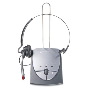 Plantronics S12 Telephone Headset System - Mono - Wired - Over-the-head, Over-the-ear - Monaural - 7 ft Cable - Noise Cancelling Microphone