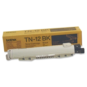 Brother 12BK Black Toner Cartridge - Black - Laser - 9000 Page - 1 Each