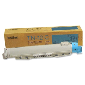 Brother 12C Cyan Toner Cartridge - Cyan - Laser - 6000 Page - 1 Each