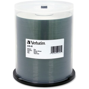 Verbatim 94797 CD Recordable Media - CD-R - 52x - 700 MB - 100 Pack Spindle - Silk-screen Printable