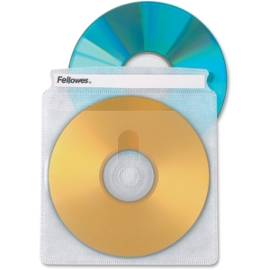 Fellowes CD Album 25 Clear Double-Sided Refill Pages - Book Fold, Plastic