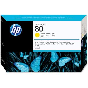 HP 80 Yellow Ink Cartridge - Yellow - Inkjet - 4400 Page - 1 Each - Retail