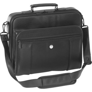 Targus Koskin Standard Notebook Case KOS301 - Top Loading - Handle, Detachable Shoulder Strap - Koskin - Black