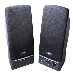 Cyber Acoustics CA-2014rb 2.0 Speaker System - 4 W RMS - Black - 85 Hz - 18 kHz