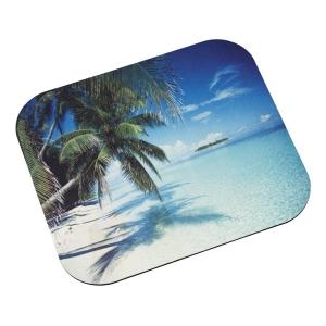 """3M Tropical Beach Mouse Pad - 0.1"""" x 9"""" x 8"""" Dimension - Aqua"""