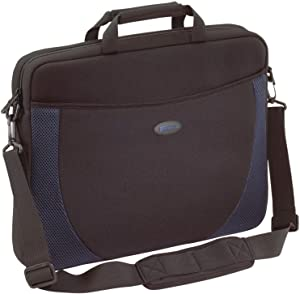 Targus Notebook Case - Top-loading - Shoulder Strap, Handle - Neoprene - Black, Blue