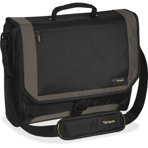 "Targus CityGear TCG200 Carrying Case (Messenger) for 17"" Notebook - Black, Yellow - Nylon"