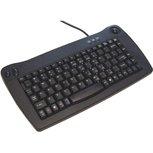 Adesso ACK-5010UB Mini Keyboard - USB - QWERTY - 89 Keys - Black