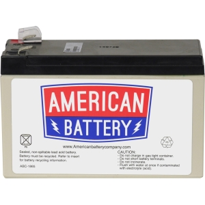 ABC RBC17 Replacement Battery Cartridge #17 - 12V DC - Maintenance-free Sealed Lead Acid Hot-swappable