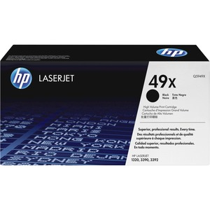 HP 49X Black Toner Cartridge - Black - Laser - 6000 Page - 1 Each