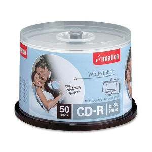 Imation CD Recordable Media - CD-R - 52x - 700 MB - 50 Pack Spindle - 120mm1.33 Hour Maximum Recording Time