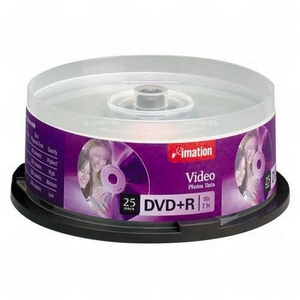 Imation DVD Recordable Media - DVD+R - 4.70 GB - 25 Pack Spindle - 120mm2 Hour Maximum Recording Time