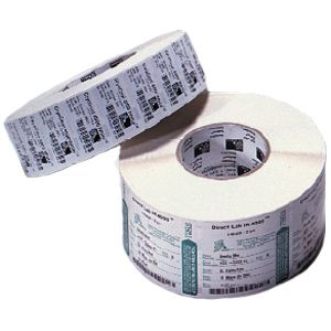 Zebra Label Paper 2.25 x 0.75in Thermal Transfer Zebra Z-Select 4000T 3 in core - 2.25&quot; Width x 0.75&quot; Length - 7995/Roll - Permanent - 3&quot; Core - 4 / Case - White