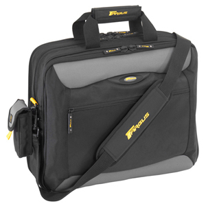 "Targus CityGear TCG400 New York Notebook Case - Top Loading - Shoulder Strap , Handle - 10"" to 16"" Screen Support - Nylon - Black, Gray, Yellow"