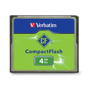Verbatim 95188 4 GB CompactFlash (CF) Card - 1 Card/1 Pack