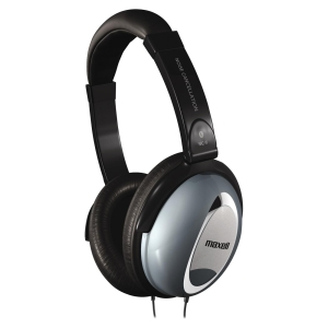 Maxell HP/NC-II Noise Cancellation Headphone - Wired - 60 Ohm - 10 Hz 28 kHz - Nickel Plated - Binaural - Ear-cup