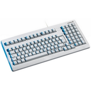 Cherry G81-1800 Series Compact Keyboard - PS/2 - QWERTY - 101 Keys - Light Gray - English (US)