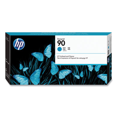 HP 90 Cyan Ink Cartridge - Cyan - Inkjet