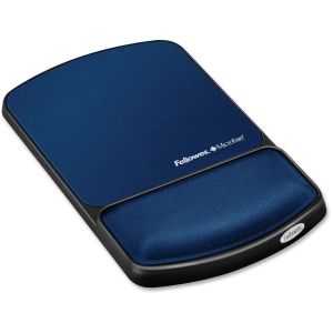 "Fellowes Mouse Pad / Wrist Support with Microban Protection - 10.1"" x 6.8"" x 0.9"" - Sapphire"
