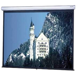 "Da-Lite Model C Manual Wall and Ceiling Projection Screen - 72"" x 96"" - Matte White - 120"" Diagonal"