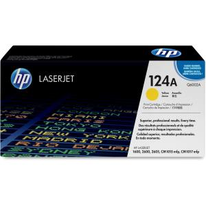 HP 124A Yellow Toner Cartridge - Yellow - Laser - 2000 Page