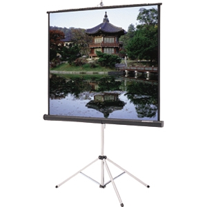 "Da-Lite Picture King Tri pod Projection Screen - 70"" x 70"" - Matte White - 99"" Diagonal"