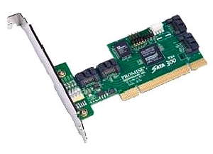 Promise SATA300 TX4 4-port SATA PCI Adapter - 4 x 7-pin SATA Serial ATA/300 Serial ATA