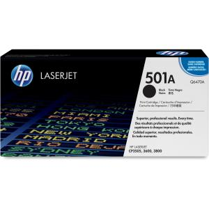 HP 501A Black Toner Cartridge - Black - Laser - 6000 Page