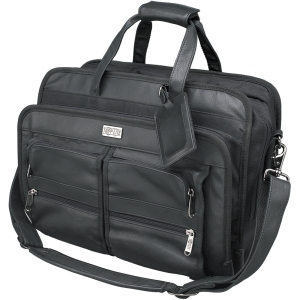 Tripp Lite Corporate Top-Load Notebook Case - Top-loading - Leather - Black