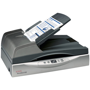 Xerox DocuMate 632 Sheetfed Scanner - 48 bit Color - 16 bit Grayscale - USB