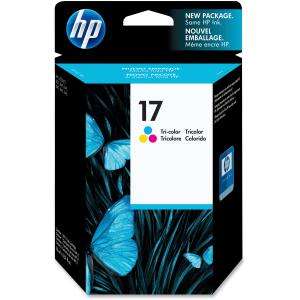 HP 17 Tri-Color Ink Cartridge - Yellow, Cyan, Magenta - Inkjet - 410 Page - 1 Each