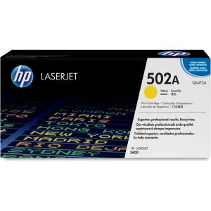 HP 502A Yellow Toner Cartridge - Yellow - Laser - 4000 Page