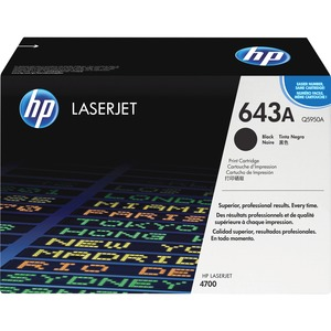 HP 643A Black Toner Cartridge - Black - Laser - 11000 Page Black - 1 Each
