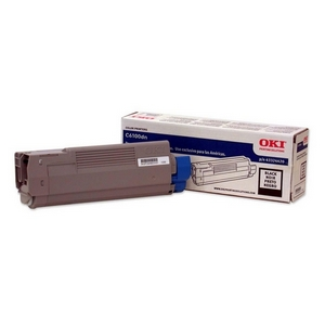 Oki Type C8 Black Toner Cartridge - Black - LED - 6000 Page - 1 Each