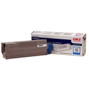 Oki Type C8 Cyan Toner Cartridge - Cyan - LED - 5000 Page - 1 Each