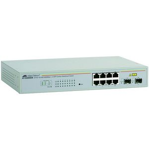 Allied Telesis WebSmart AT-GS950/8-10 Gigabit Ethernet Switch - 8 x 10/100/1000Base-T