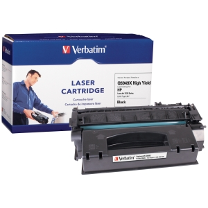 Verbatim HP Q5949X Compatible HY Toner Cartridge (LJ 1320) - Black - Laser - 6000 Page - 1 / Pack