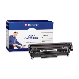 Verbatim HP Q2612A Compatible Toner Cartridge - Black - Laser - 3000 Page - 1 / Pack