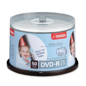 Imation DVD Recordable Media - DVD-R - 16x - 4.70 GB - 50 Pack Spindle - 120mm