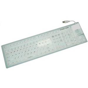 Grandtec FLX-7000 Keyboard - USB - 109 Keys - White